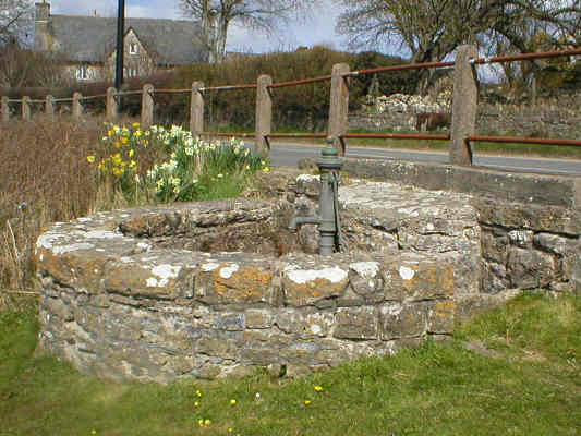 Well and pump by the Pond in St. Brides Major